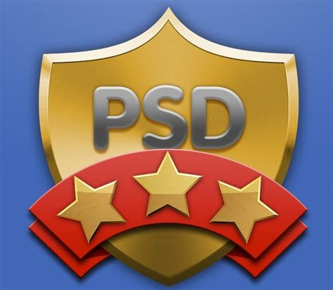 shield psd template free metal shield and ribbon badge psd titanui