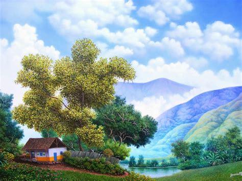 imagenes surrealistas de arboles im 225 genes arte pinturas paisajes con arboles casas y monta 241 as