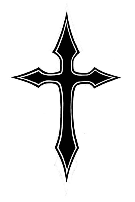 basic cross tattoo pix for gt solid black cross designs cliparts co