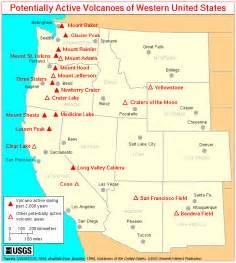 volcanoes in america map
