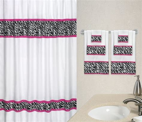 Pink And Black Shower Curtain by Shower Curtain Zebra Room Ornament