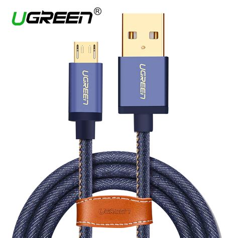 Wsken Kabel Charger Micro Usb Braided Fast Charging Diskon מוצר ugreen micro usb cable cowboy braided fast charge data cable mobile phone usb charger