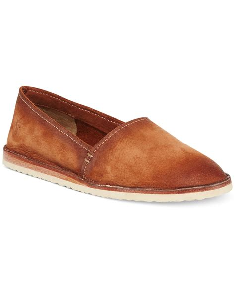 frye flat shoes lyst frye s milly a line flats in brown