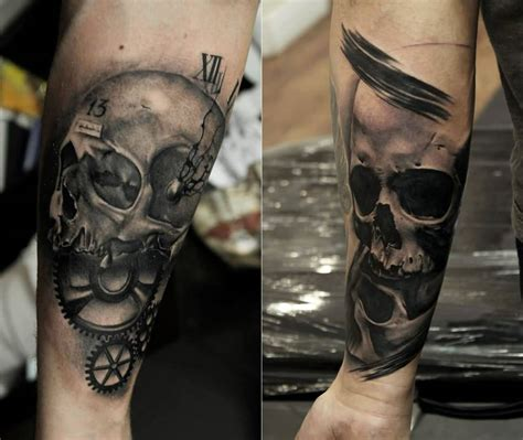 gear head tattoos designs 80 amazing exle of cool skull designs golfian