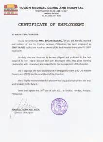 Certification Of Employment Letter Format 5 Al Moosa Gen Hospital Letter Of Recommendation 4