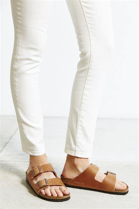 Aline Lite Brown Beajove Comfort Sandal Wedges Birkenstock Antique Brown Leather Arizona Slide Sandal In