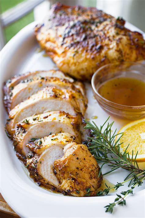 orange honey glazed roasted turkey breasts