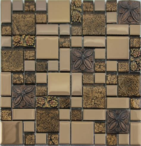 Wholesale Backsplash Tile Kitchen Glass Mosaic Tile Snowflake Style Mosaic Design