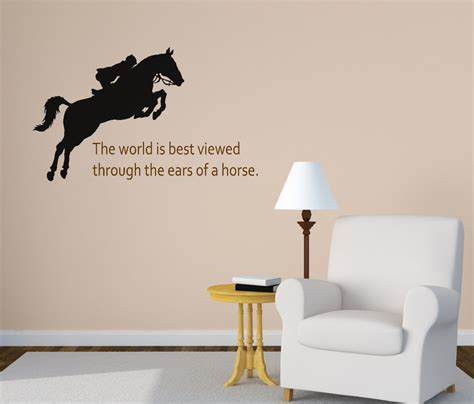 Quote Wall Stickers For Bedrooms horse wall decal girls bedroom wall decal quote wall decal