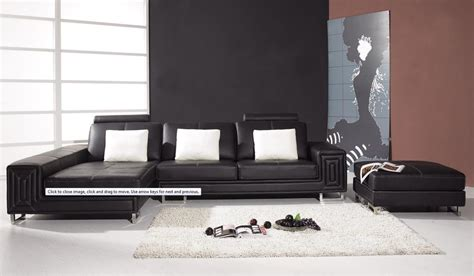 black contemporary couch modern leather couch by vig furniture