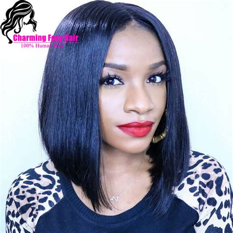 bob cut wigs african americans short cut african american bob wigs glueless lace front
