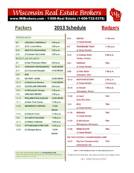 Ford Football Schedule Printable Packers Schedule 2013 2014 Auto Review Price
