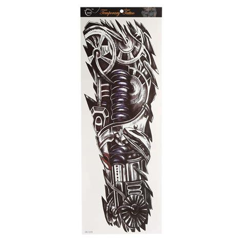 body tattoo stickers uk full arm sleeve temporary tattoo mechanical body arm art