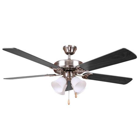 y decor harli 52 in brushed nickel ceiling fan with black