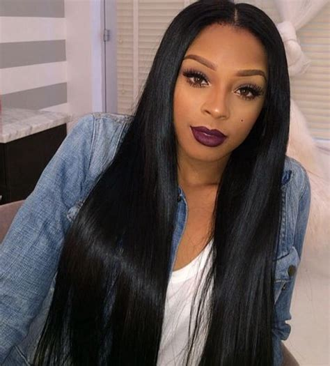 black celebrities in long straight weave wigs with bangs 113 best images about jet black hair on pinterest her