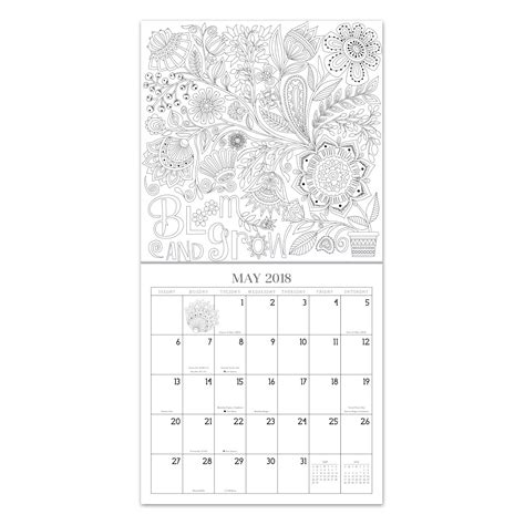 2018 coloring calendar books 2018 color a quote calendar kit calendar coloring kit