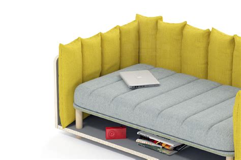 rearrangeable sectional re cinto sofa by davide anzalone provides playful