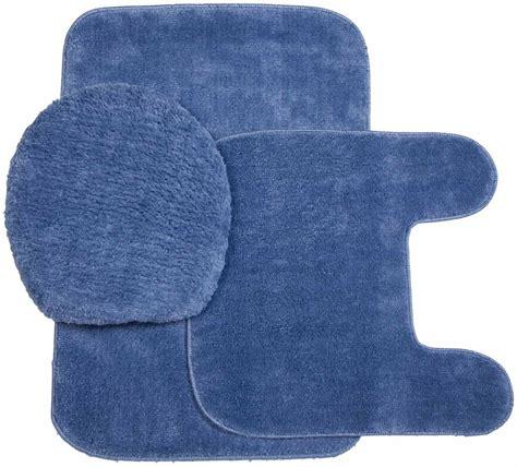 Plush Bathroom Rugs by Plush Rug And Lid 3 Pc Bath Set Ebay