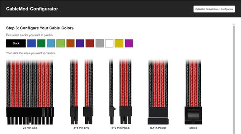 color run sf cablemod launches configurator design your own custom