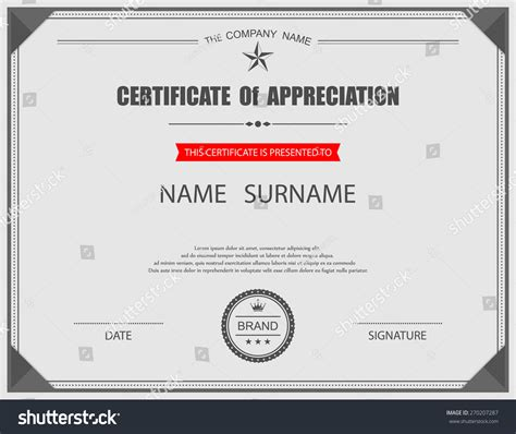 vector certificate template 270207287 shutterstock