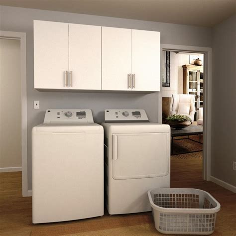 home laundry room cabinets modifi 60 in w mocha open shelves laundry cabinet