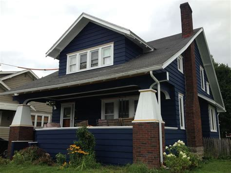 blue craftsman house our navy blue house craftsman bungalow fixer upper pinterest craftsman navy