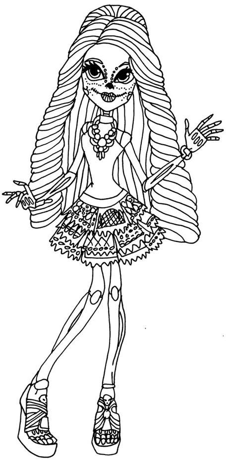 monster high skelita calaveras coloring pages skelita calaveras by elfkena on deviantart