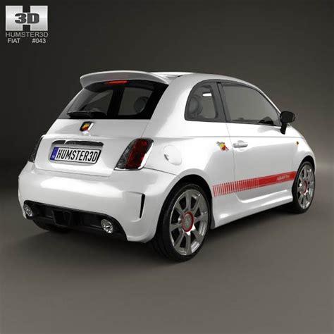 fiat 500 abarth 2012 3d model hum3d