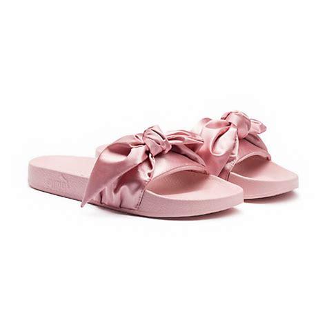 Fenty Bow Black Sandal fenty by rihanna bow slide sandals bow s slide sandals light pink eyeconicwear