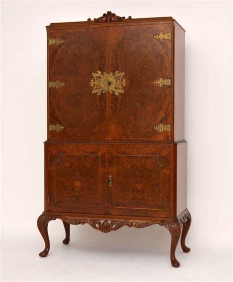vintage liquor cabinet for sale antique queen anne style burr walnut cocktail cabinet