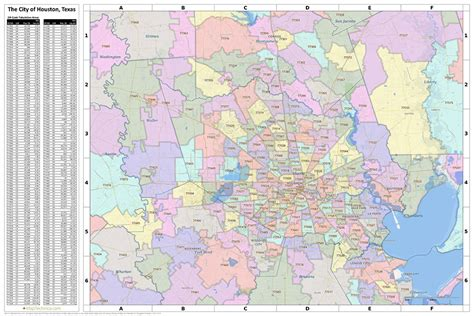printable zip code map houston tx harris county zip code map my blog