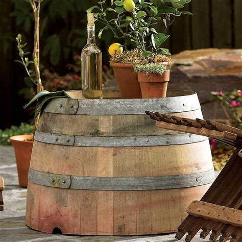 Wine Barrel Plaques Ballard Designs Wine Barrel Patio Table