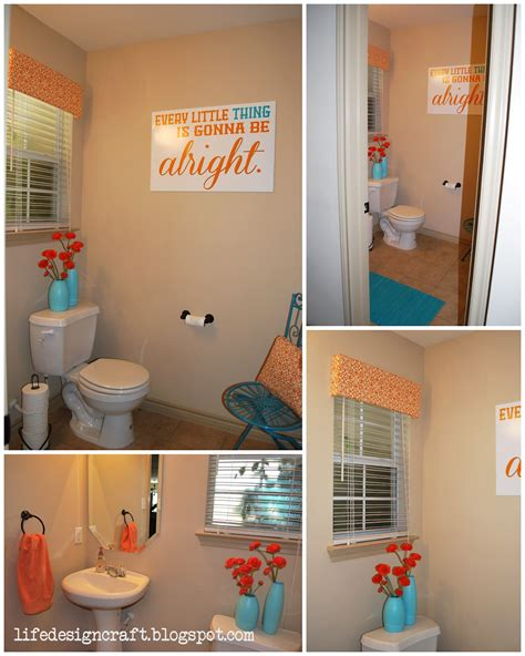 bathroom art ideas orange turquoise bathroom with free print quot every