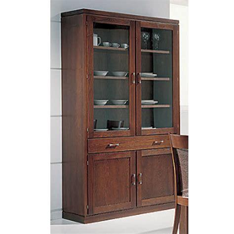 vitrinas de madera para comedor vitrina en madera de fresno para salones y comedores