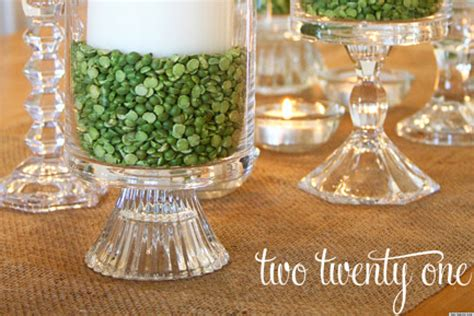 Making Christmas Decorations At Home St Patrick S Day Ideas Make A Candle Centerpiece With