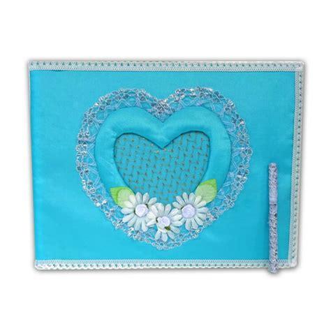 Buku Tamu Renda Warna souvenir buku tamu warna biru pusaka dunia