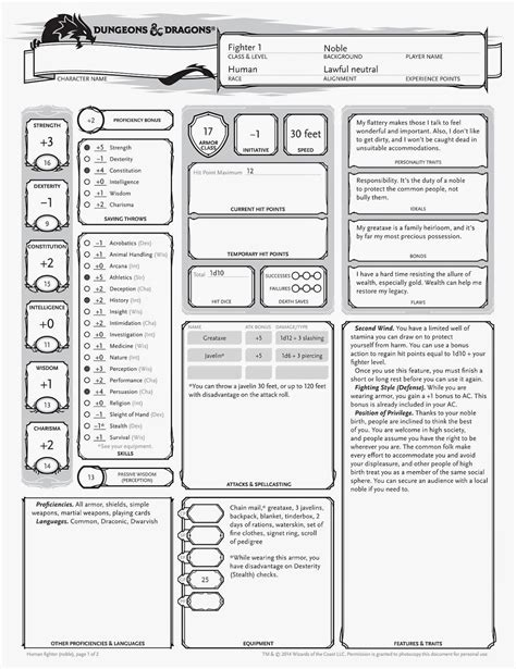 Venger S Old School Gaming Blog Dd 5e Character Sheet D D Gaming Pinterest Character D D 5e Template