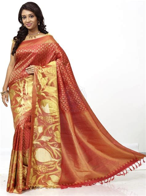 pure kanchipuram bridal silk saree   buy online : The
