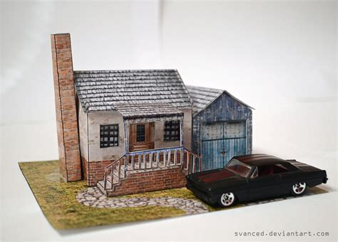 Papercraft Diorama - suburbia diorama papercraft 2 by svanced on deviantart