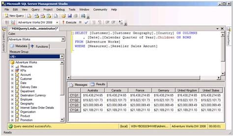 mdx query tutorial in sql server 2008 jessica m moss mdx query returns duplicate values