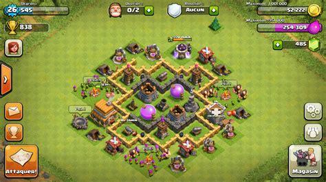 bases coc la familia clan view image villlages hdv 5 farming et hybrides clashofclange