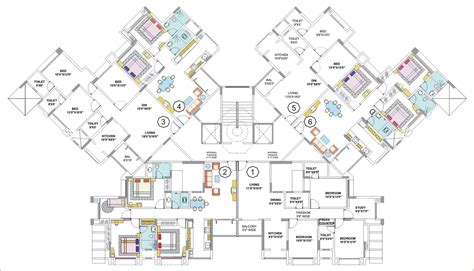floor plans for large homes floor plans nancy group thane mumbai residential