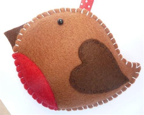 rockin robin felt christmas decoration