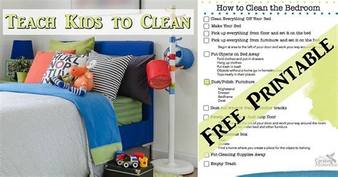 How To A Clean Bedroom teach to a clean room bedroom cleaning printable