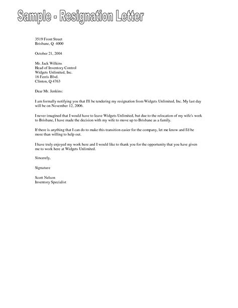 Resignation Letter Last Day by Resignation Letter Format Resume Templates Sle Resignation Letter Inventory Central