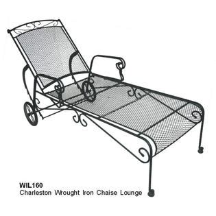 Black Wrought Iron Patio Chaise Lounge by Dc America Charleston Wrought Iron Chaise Lounge Outdoor