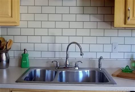 Kitchen Backsplash Glass Tile Ideas by Painted Subway Tile Backsplash Remodelaholic