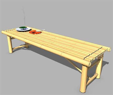 bamboo benches bamboo bench poser sharecg