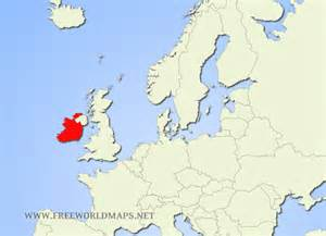 Ireland On World Map by Ireland World Map Location Www Imgarcade Com Online
