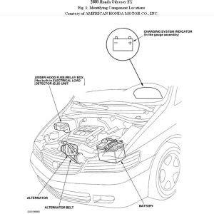 2000 honda odyssey alternator removal electrical problem